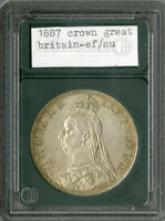 GREAT BRITAIN COIN 1887 SILVER VICTORIA JUBILEE CROWN