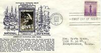 NATIONAL DEFENSE ISSUE 901 FDC CROSBY CACHET B3919