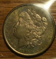 1881S BU MORGAN SILVER DOLLAR BEAUTIFULLY TONED 90 SILVER WITH FREE S./H.