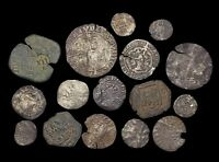 LOT OF 16 MEDIEVAL COINS MOSTLY BRITISH HAMMERED  INC A SHIL