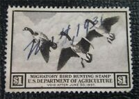 NYSTAMPS US DUCK STAMP  RW3 USED $90