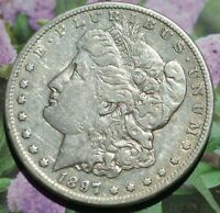 1897S AU MORGAN SILVER DOLLAR 90 SILVER WITH FREE S/H