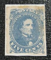 NYSTAMPS US CSA CONFEDERATE STAMP  4A MINT H $275