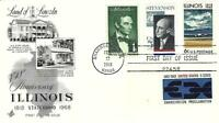 ILLINOIS STATEHOOD LAND OF LINCOLN 1339 COMBO FDC AC CACHET