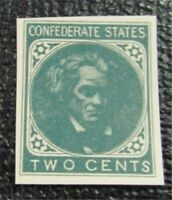 NYSTAMPS US CSA STAMP UNISSUED 2C REPRINTED BY OHIO MUSEUM F