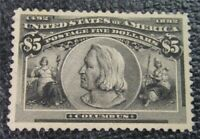 NYSTAMPS US STAMP  245 MINT OG H $2400