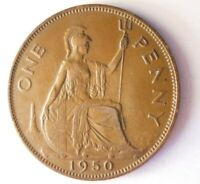 1950 GREAT BRITAIN PENNY   AU    KEY DATE COIN   LOT A10