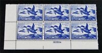 NYSTAMPS US DUCK PLATE BLOCK STAMP  RW19 MINT OG NH $550 PLA