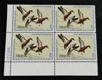 NYSTAMPS US DUCK PLATE BLOCK STAMP  RW38 MINT OG NH $175 PLA