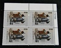 NYSTAMPS US DUCK PLATE BLOCK STAMP  RW50 MINT OG NH $50 PLAT