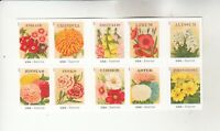 4754 63A VINTAGE SEED PACKETS MNH BOOKLET PANE OF 10 CV $25