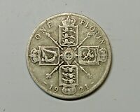 GREAT BRITAIN FLORIN 1921.  0.500  SILVER. KM 817A