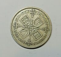 GREAT BRITAIN FLORIN 1936.  0.500  SILVER. KM 834