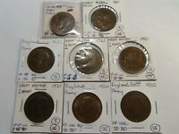 O240 GREAT BRITAIN 1920 & 1921 PENNY MIXED DATE GROUP 8 PCS