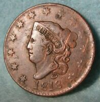 1818 CORONET HEAD LARGE CENT BETTER GRADE DETAILS ROTATED RE