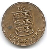 GUERNSEY 1938 H 1 DOUBLE KM 11 COIN IN UNCIRCULATED UNC