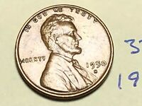 1950 S LINCOLN WHEAT CENT / PENNY 3737K