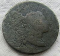 1796 1C BN LIBERTY CAP OR FLOWING HAIR LARGE CENT TOUGH EARLY DATE CORRODED