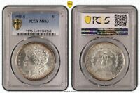 1901 S MORGAN SILVER DOLLAR PCGS MINT STATE 63