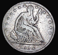 1856 LIBERTY SEATED HALF DOLLAR    ..MIN. BID .01 &