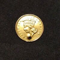 $3 GOLD PRINCESS COIN PENDANT WITH THE INSCRIPTION