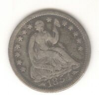 1854 W/ARROWS SEATED LIBERTY HALF DIME   SILVER   NO RESERVE