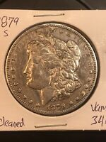 1879 S REV 78 $1 MORGAN SILVER DOLLAR  VAM 34A TOP 100