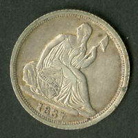 US COIN 1837 SEATED LIBERTY HALF DIME
