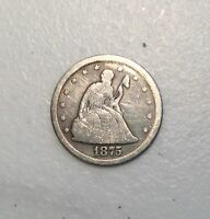 1875 S TWENTY CENT PIECE SEATED LIBERTY COIN