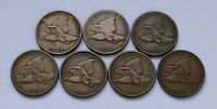 LOT OF 7  1857 - 1858 U.S. FLYING EAGLE PENNIES  FINE CONDITION