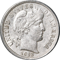 1913-P BARBER DIME GREAT DEALS FROM THE EXECUTIVE COIN COMPANY