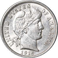1916-P BARBER DIME GREAT DEALS FROM THE EXECUTIVE COIN COMPANY