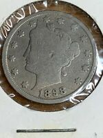 1898 LIBERTY HEAD V NICKEL