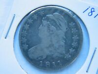 1811 CAPPED BUST HALF DOLLAR BETTER EARLY DATE VF