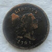 1795 1/2C LIBERTY CAP HALF CENT FINE DETAIL CORROSION  TYPE COIN BOLD DATE