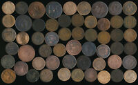 56 OLD CANADA LARGE CENTS & TOKENS  WIDE VARIETY > SEE PICTU
