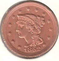 1852 LY FINE  CLEANED BUT BEAUTIFUL   BRAIDED HAIR LARGE CEN