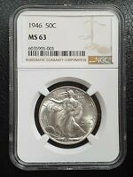 1946 WALKING LIBERTY HALF DOLLAR  MS 63  NGC