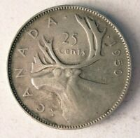 1950 CANADA 25 CENTS   HIGH GRADE SHARP DETAILED SILVER COIN