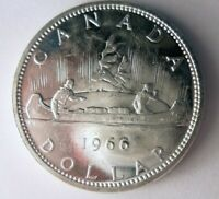 1966 CANADA DOLLAR   AU   HIGH GRADE SHARP DETAILED SILVER C