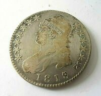 1818 PHILADELPHIA MINT SILVER CAPPED BUST HALF DOLLAR STAMPE