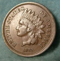 1872 INDIAN HEAD PENNY SMALL CENT BETTER GRADE UNITED STATES
