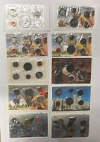 CANADA 1980  1989 PL PROOF LIKE SET COLLECTION LOT  10 PIECE