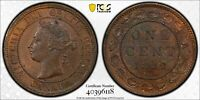 C87 CANADA 1882 H LARGE CENT PCGS MS 64 BROWN TOP POP