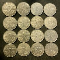 OLD CANADA COIN LOT   1922 1936   KING GEORGE V NICKELS   16
