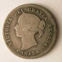 1888 CANADA 5 CENTS    DATE VINTAGE SILVER COIN   LOT O17