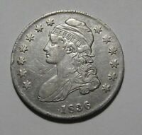 1836 CAPPED BUST HALF DOLLAR   EXTRA FINE DETAIL   166SA