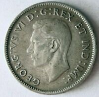 1940 CANADA 25 CENTS    DATE VINTAGE SILVER COIN   LOT O18