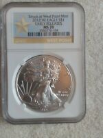 2012 W NGC MS70 SILVER EAGLE EARLY RELEASES