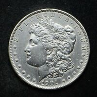1901 MORGAN SILVER DOLLAR CLEANED EXTRA FINE  CN7458